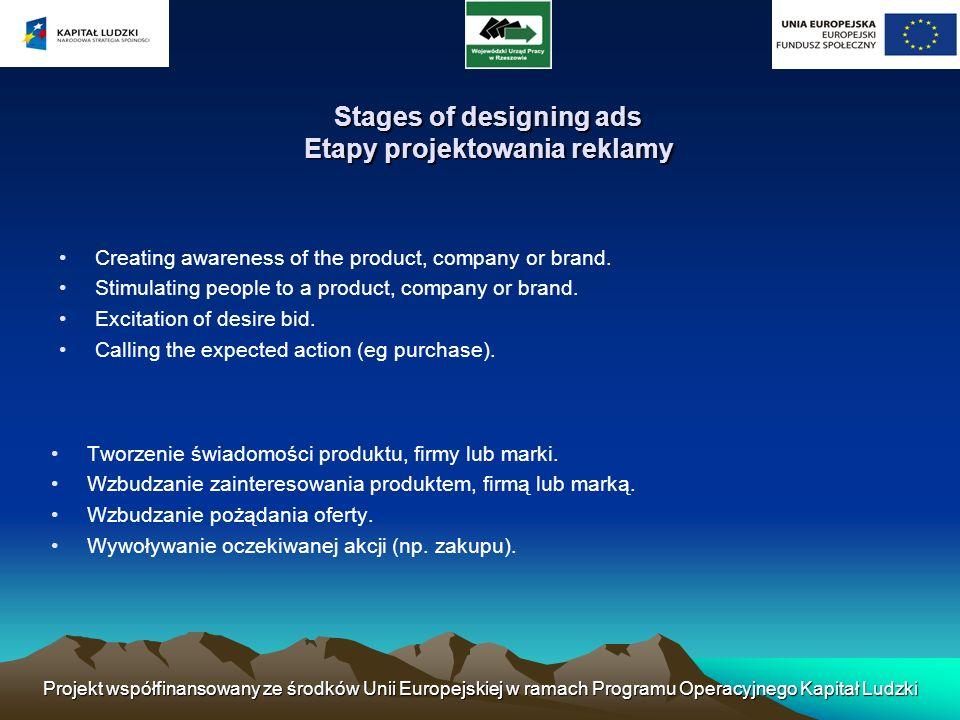 Projekt współfinansowany ze środków Unii Europejskiej w ramach Programu Operacyjnego Kapitał Ludzki Benefits Ad Korzyści reklamy General information about the product.