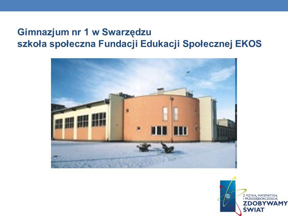 Gimnazjum nr 1 w Swarzędzu szkoła społeczna Fundacji Edukacji Społecznej EKOS