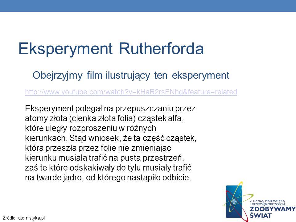 Obejrzyjmy film ilustrujący ten eksperyment http://www.youtube.com/watch?v=kHaR2rsFNhg&feature=related http://www.youtube.com/watch?v=kHaR2rsFNhg&feat