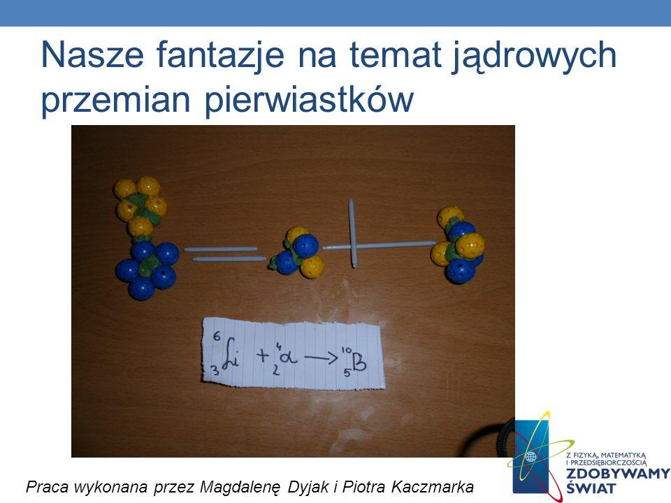Nasze fantazje na temat jądrowych przemian pierwiastków Praca wykonana przez Magdalenę Dyjak i Piotra Kaczmarka