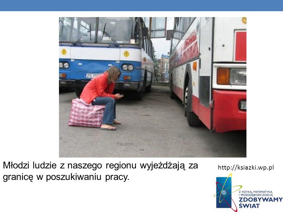 Młodzi ludzie z naszego regionu wyjeżdżają za granicę w poszukiwaniu pracy. http://ksiazki.wp.pl