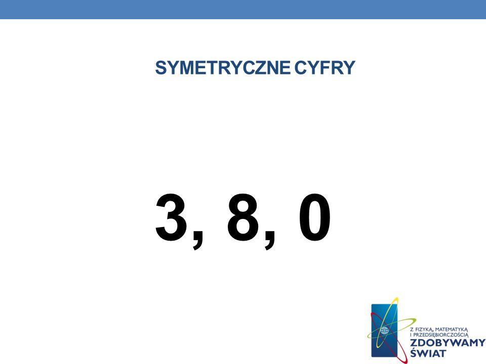 SYMETRYCZNE CYFRY 3, 8, 0