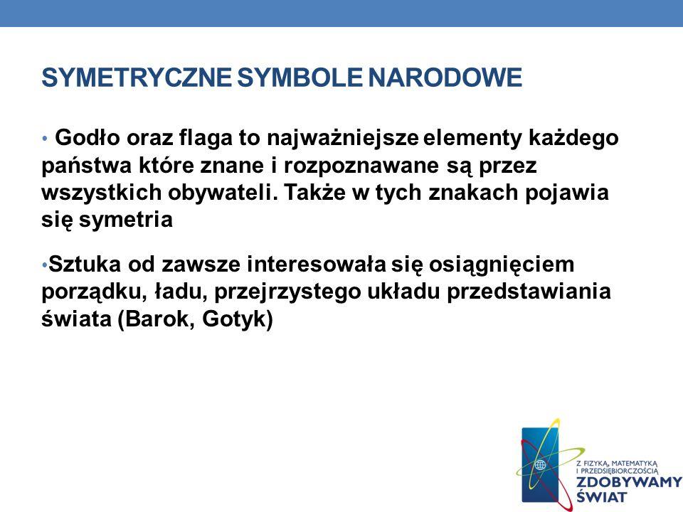 SYMETRYCZNE SYMBOLE NARODOWE Godło oraz flaga to najważniejsze elementy każdego państwa które znane i rozpoznawane są przez wszystkich obywateli. Takż