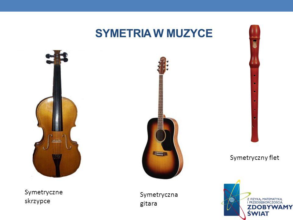 SYMETRIA W MUZYCE Symetryczne skrzypce Symetryczny flet Symetryczna gitara