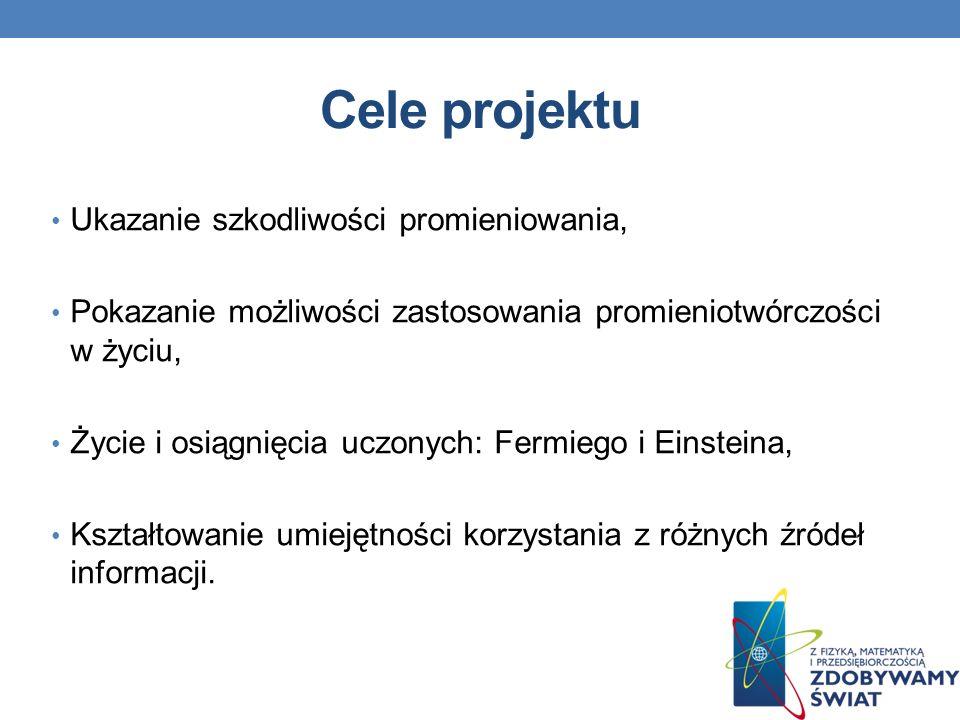 Źródła http://www.polonia360.com/ciekawoski-z-zycia-alberta-eisteina.aspx http://pl.wikipedia.org/wiki/Enrico_Fermi wikipedia.pl www.google.pl - grafika www.sciaga.pl http://fizyka.zamkor.pl/