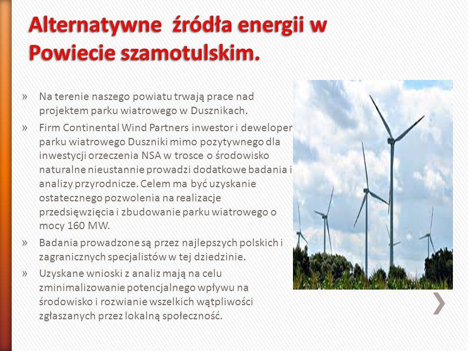 » Na terenie naszego powiatu trwają prace nad projektem parku wiatrowego w Dusznikach.