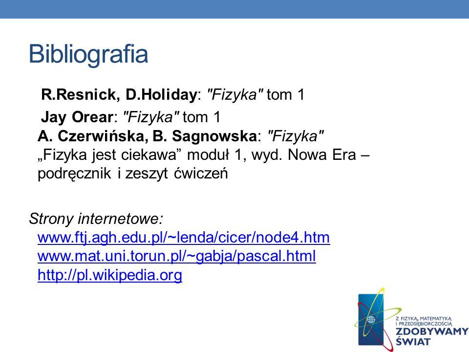 Bibliografia R.Resnick, D.Holiday: