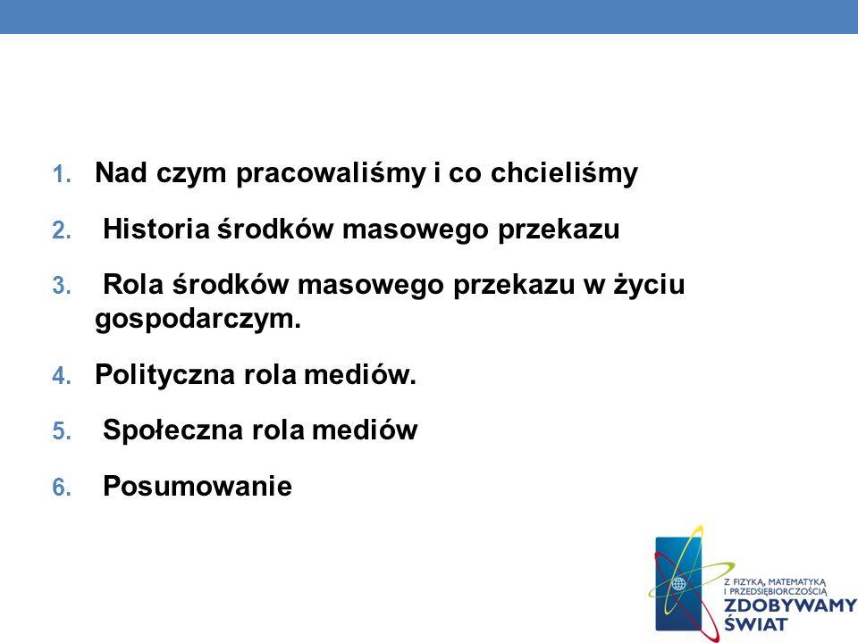 HISTORIA PRASY 1609 – Relation drukowana w Strasburgu 1650 – pierwszy dziennik w Lipsku 1661 – w Polsce zostaje wydany Merkuriusz Polski Ordynaryjny (Merkuriusz Polski dzieje wszystkiego w sobie zamykający dla informacji pospolitej)