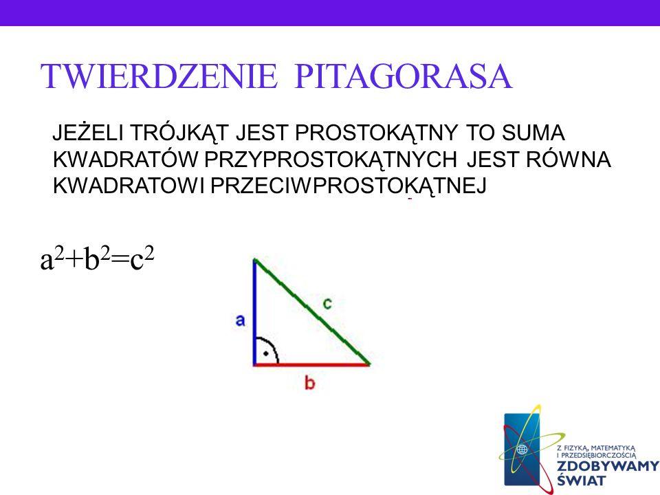 HISTORIA TWIERDZENIA PITAGORASA Pitagoras szukał związków liczbowych w tworach geometrycznych. Znany mu był tzw. trójkąt egipski o bokach wyrażonych l