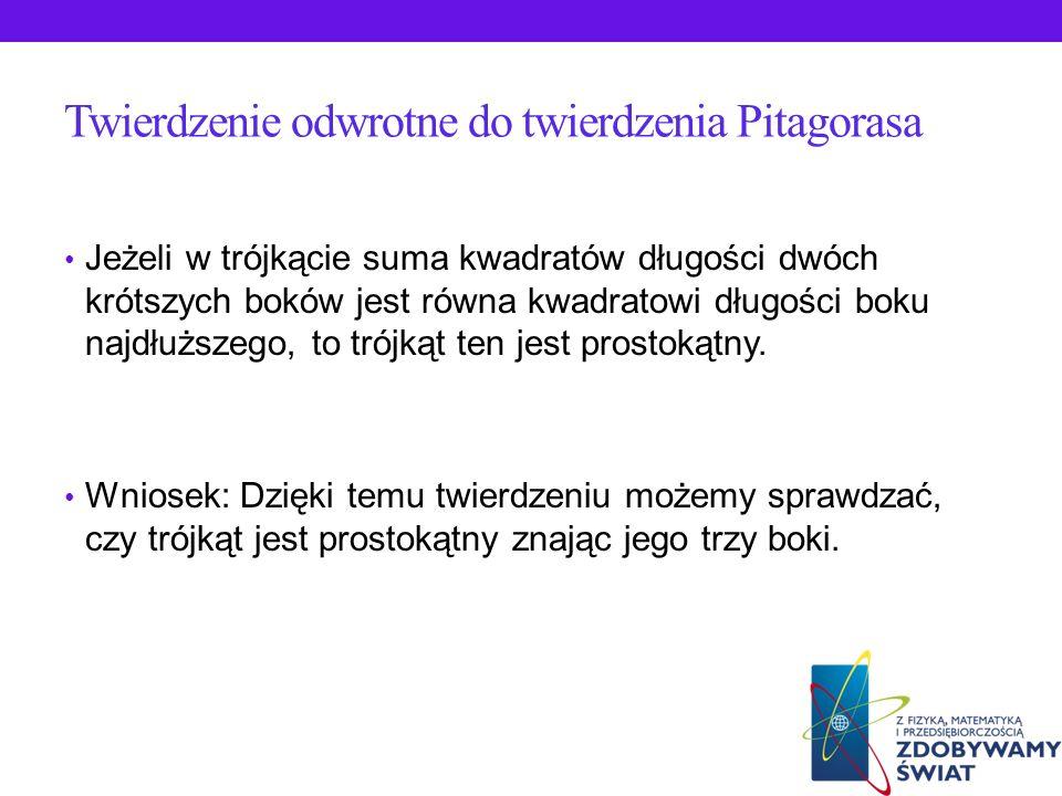 Zastosowanie Twierdzenia Pitagorasa w układzie współrzędnych Przypomnijmy, jak obliczamy odległości między dwoma punktami w układzie współrzędnych: -j