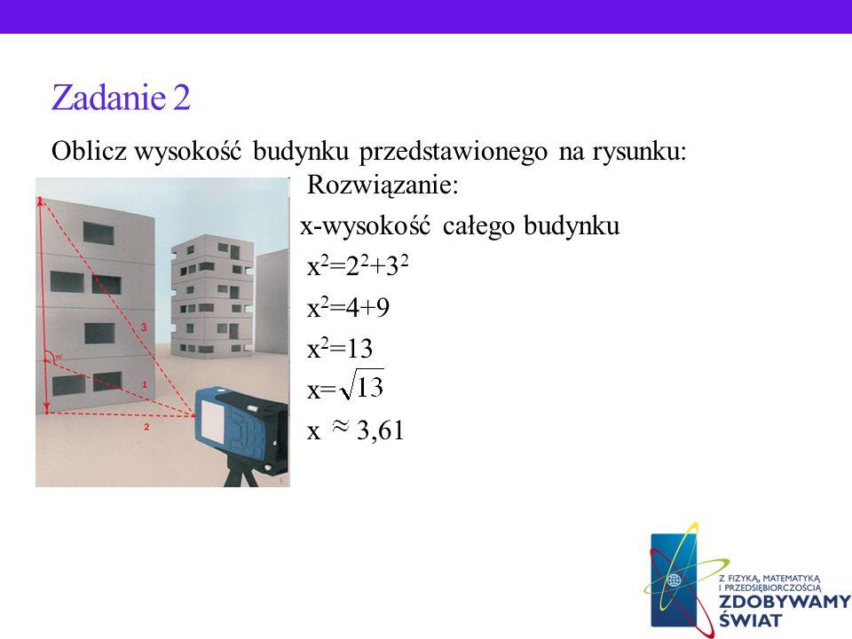 ZADANIA Z ŻYCIA CODZIENNEGO Z ZASTOSOWANIEM TW.PITAGORASA Zadanie 1. Czy lustro o wymiarach 2,20m x 2,20m można przenieść przez drzwi o wymiarach 1m x