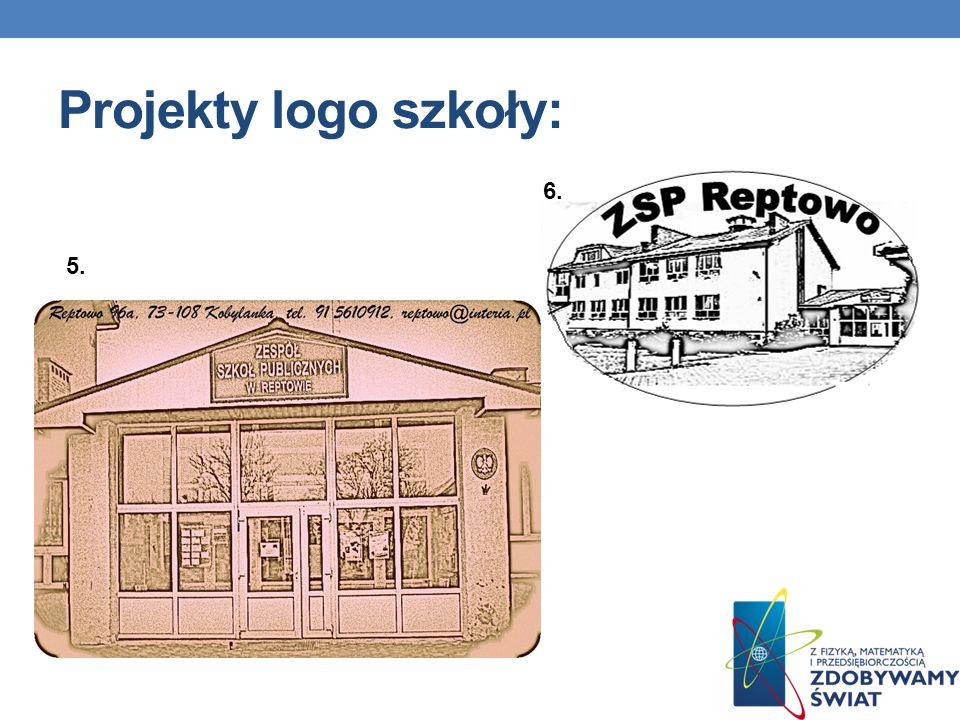 Projekty logo szkoły: 5. 6.