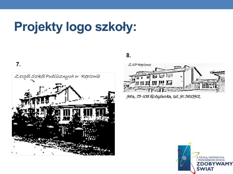96a, 73-108 Kobylanka, tel. 91 5610912, ZSP Reptowo Projekty logo szkoły: 7. 8. Zespół Szkół Publicznych w Reptowie