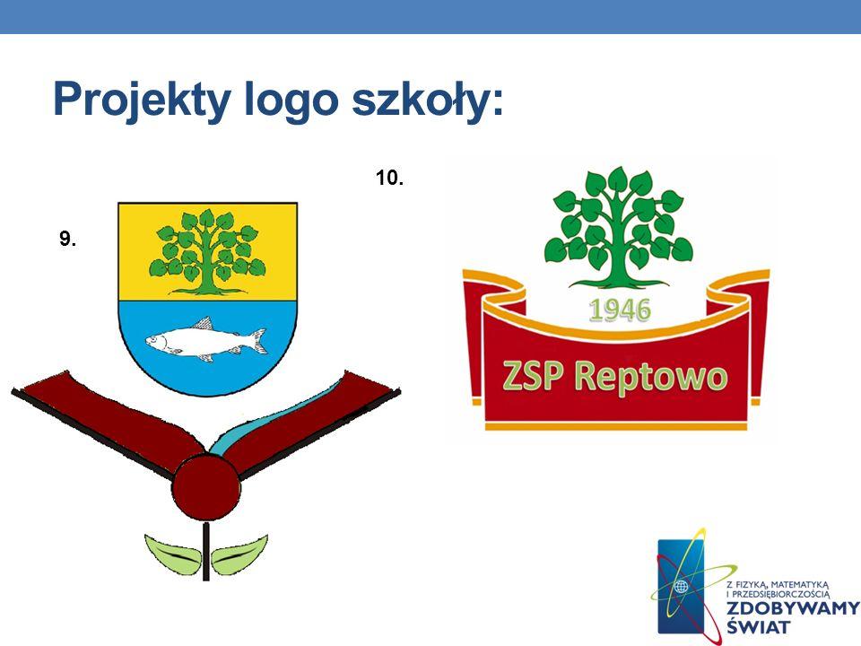 9. 10. Projekty logo szkoły: