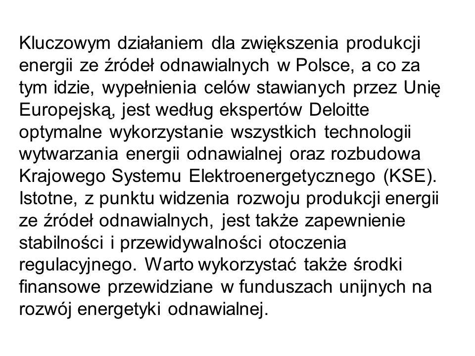 Kluczowym działaniem dla zwiększenia produkcji energii ze źródeł odnawialnych w Polsce, a co za tym idzie, wypełnienia celów stawianych przez Unię Eur