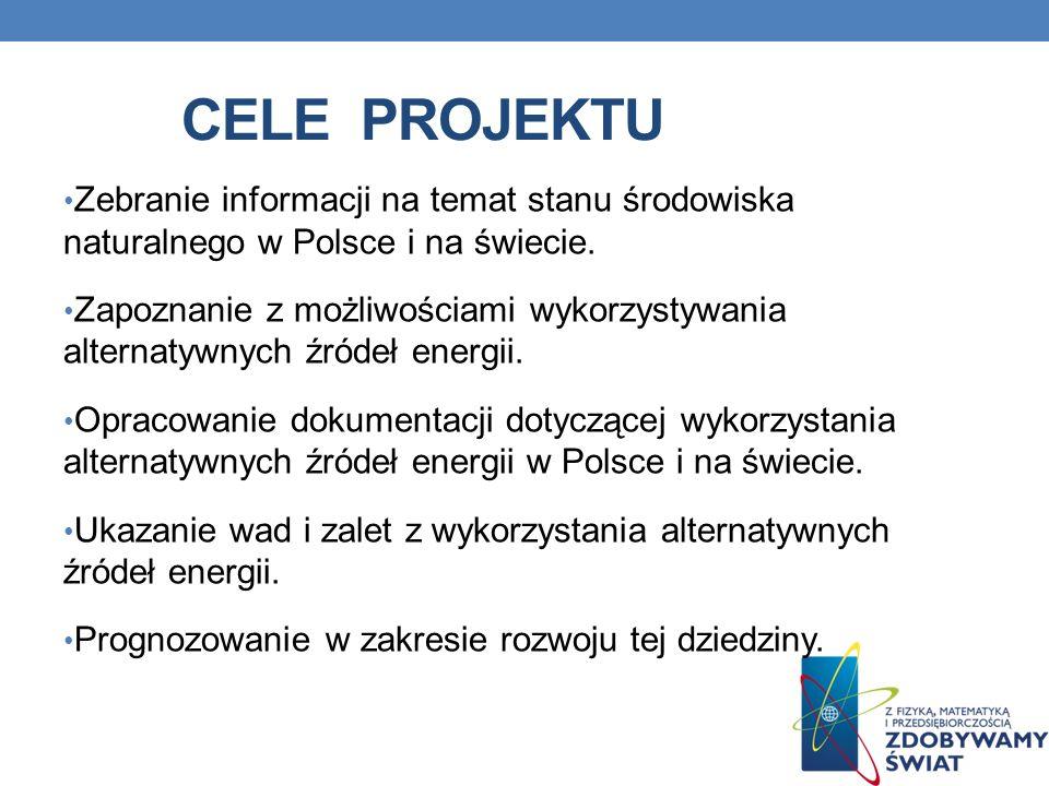 BRANŻA ENERGETYCZNA Niekonwencjonalne źródła energii wykorzystywane w Polsce mają oczywiście olbrzymi wpływ na problem ochrony środowiska.