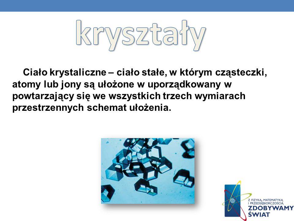 Ciało krystaliczne – ciało stałe, w którym cząsteczki, atomy lub jony są ułożone w uporządkowany w powtarzający się we wszystkich trzech wymiarach prz