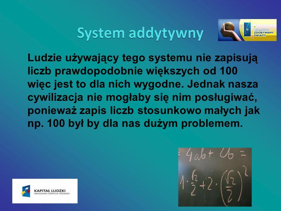 Ludzie używający tego systemu nie zapisują liczb prawdopodobnie większych od 100 więc jest to dla nich wygodne. Jednak nasza cywilizacja nie mogłaby s
