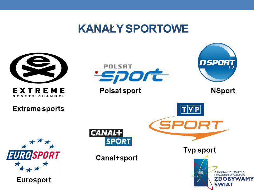 KANAŁY SPORTOWE Eurosport Polsat sport Tvp sport Canal+sport Extreme sports NSport