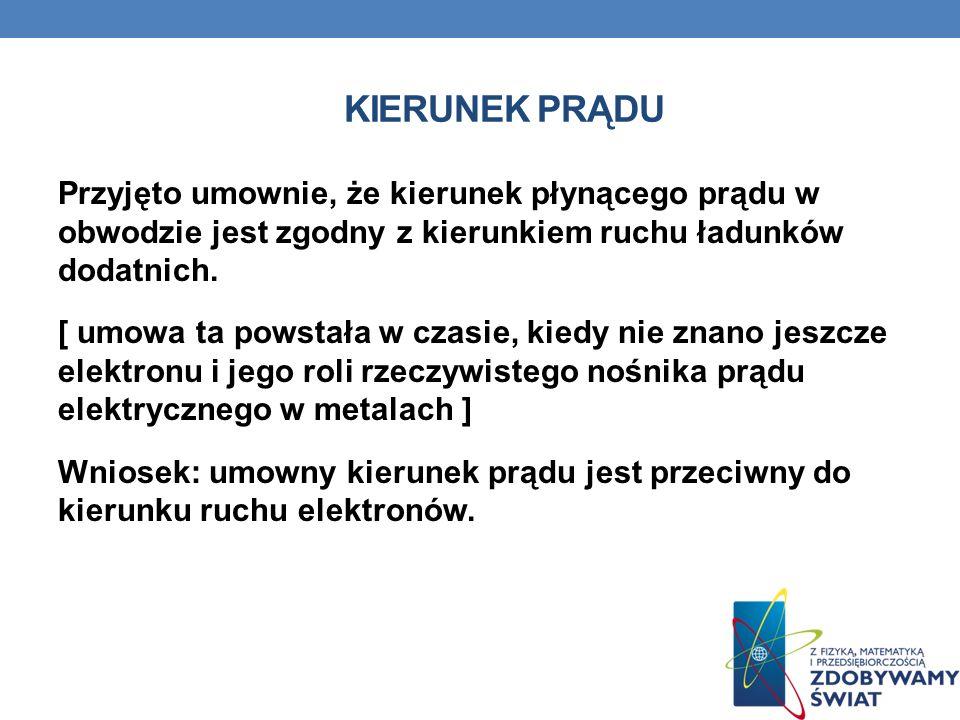II PRAWO KIRCHHOFFA Suma napięć źródłowych w dowolnym obwodzie zamkniętym prądu stałego równa jest sumie napięć na odbiornikach (tzw.