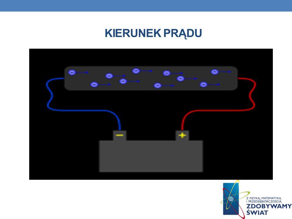 PRACA PRĄDU ELEKTRYCZNEGO Praca prądu elektrycznego w obwodzie prądu stałego jest równa iloczynowi napięcia źródła energii elektrycznej, natężenia prądu przepływającego przez odbiornik oraz czasu przepływu prądu.