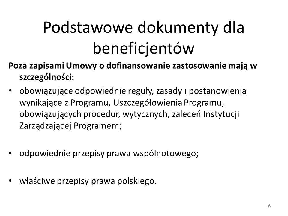 Główne akty prawne i dokumenty strategiczne na lata 2007-2013 Ustawa o zasadach prowadzenia polityki rozwoju z 6 grudnia 2006 r., Ustawa o finansach p