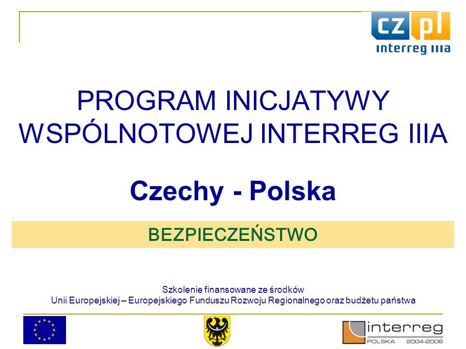 Program spotkania 10.00-10.30 Przedmioty wsparcia, możliwości uzyskania dofinansowania ze środków Unii Europejskiej w ramach PIW INTERREG IIIA Czechy-Polska 10.30-11.00 Omówienie procesu naboru i oceny wniosków, najczęściej popełniane błędy we wnioskach 11.00-12.00 Potencjalne projekty – cześć I warsztatów 12.00-12.30 Lunch 12.30-14.00 Wniosek – cześć II warsztatów Od 14.00 Indywidualne konsultacje