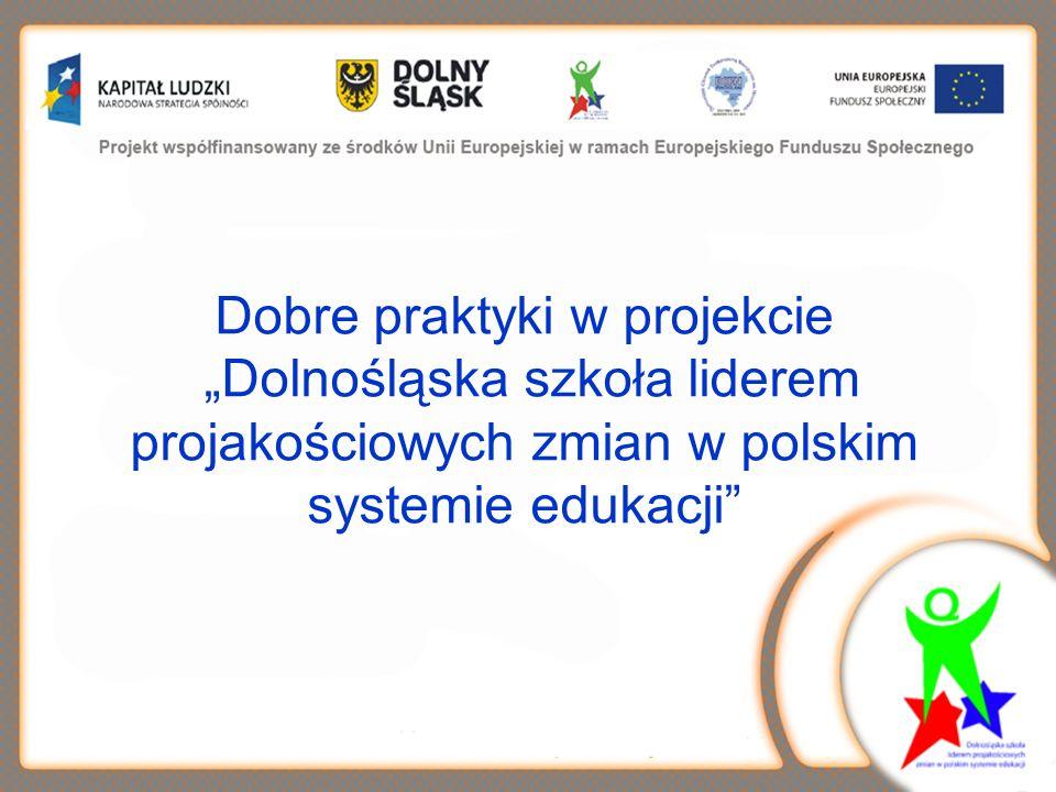 Dobre praktyki w naszym projekcie Godne upowszechnienia pomysły, inicjatywy, doświadczenia, które w konkretnym programie rozwojowym szkoły okazały się trafnymi rozwiązaniami i przyczyniły się do osiągnięcia założonych celów.