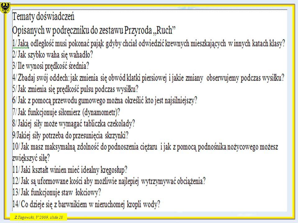 Z.Tagowski, V2009, slide 28