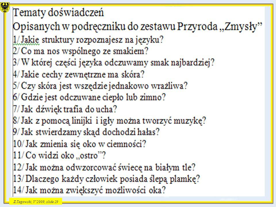 Z.Tagowski, V2009, slide 29