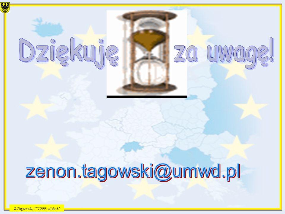 Z.Tagowski, V2009, slide 31