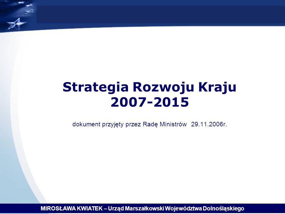 Strategia Rozwoju Kraju 2007-2015 dokument przyjęty przez Radę Ministrów 29.11.2006r.