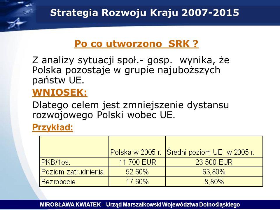Z analizy sytuacji społ.- gosp.wynika, że Polska pozostaje w grupie najuboższych państw UE.
