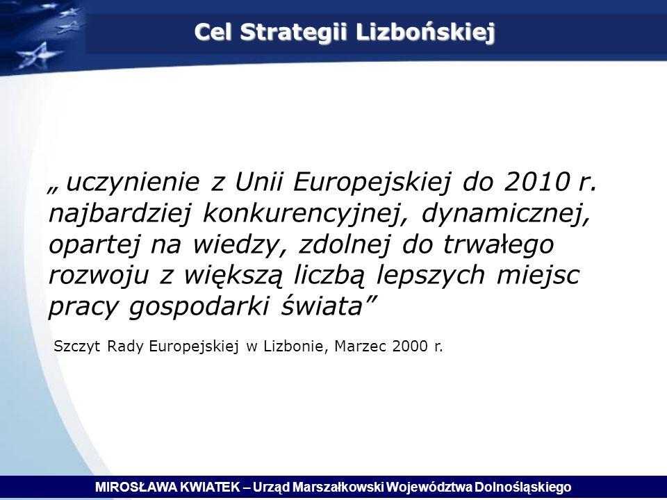 Cel Strategii Lizbońskiej uczynienie z Unii Europejskiej do 2010 r.
