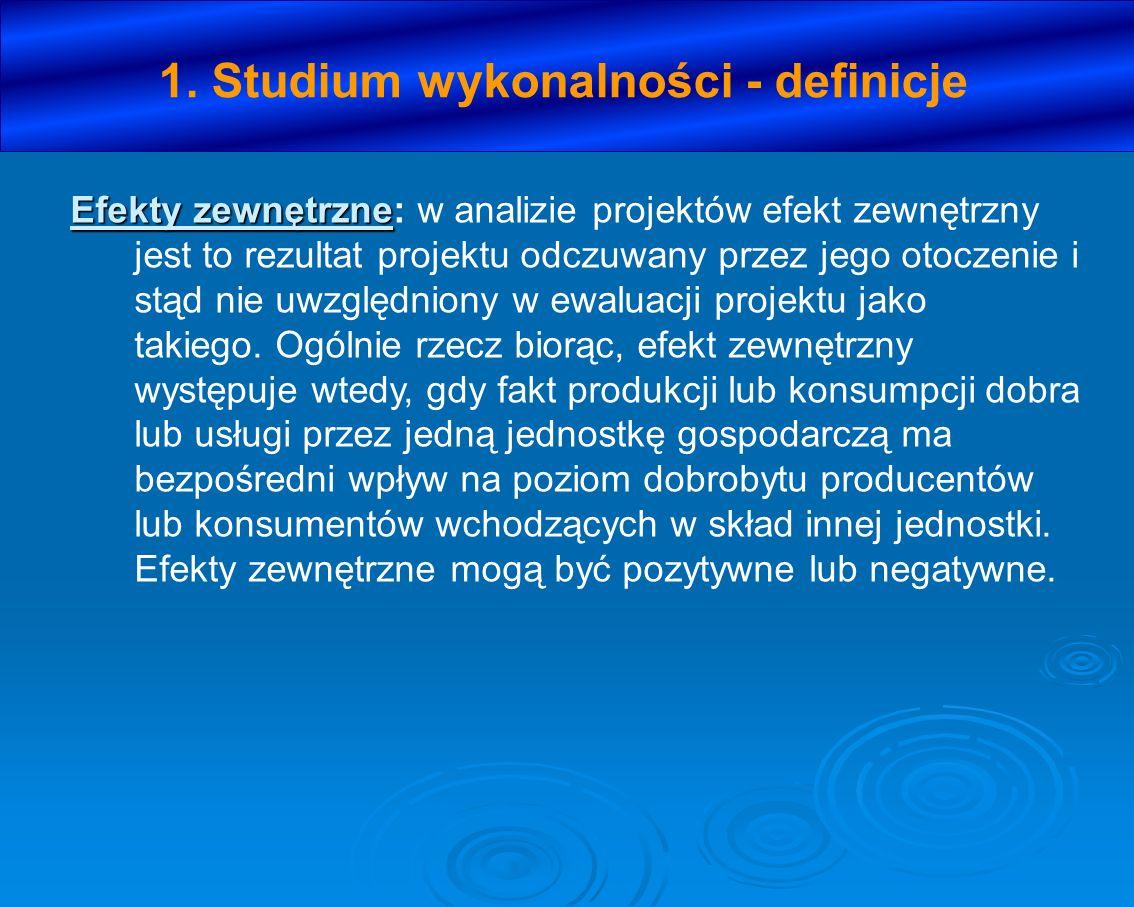 X.ANALIZA KOSZTÓW I KORZYŚCI SPOŁECZNO- EKONOMICZNYCH 1.