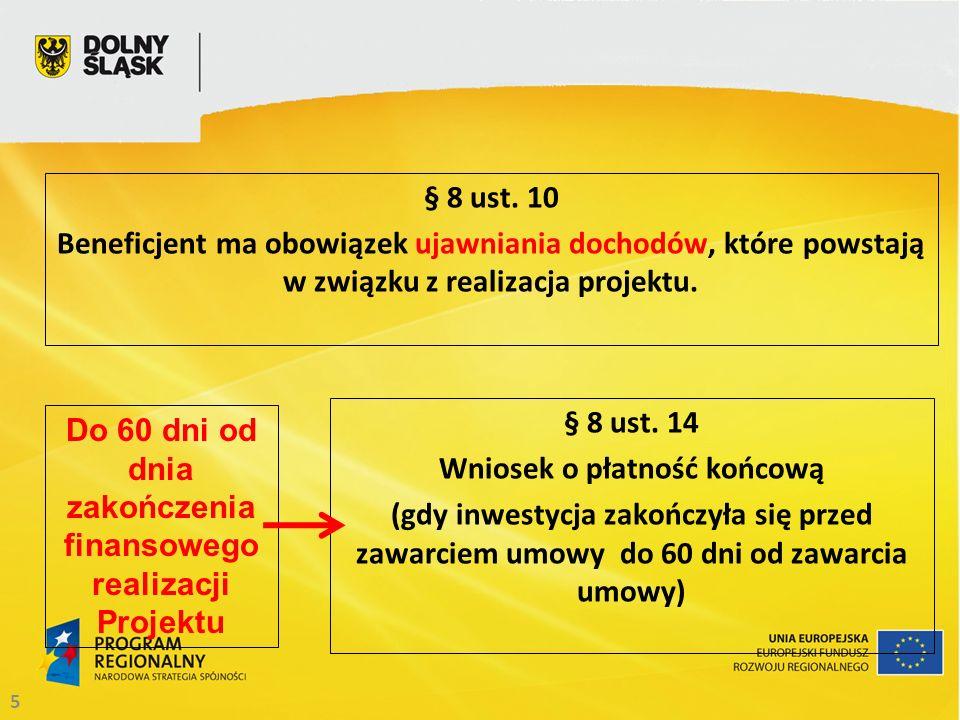 16 § 19 Rozwiązanie Umowy § 19 ust.