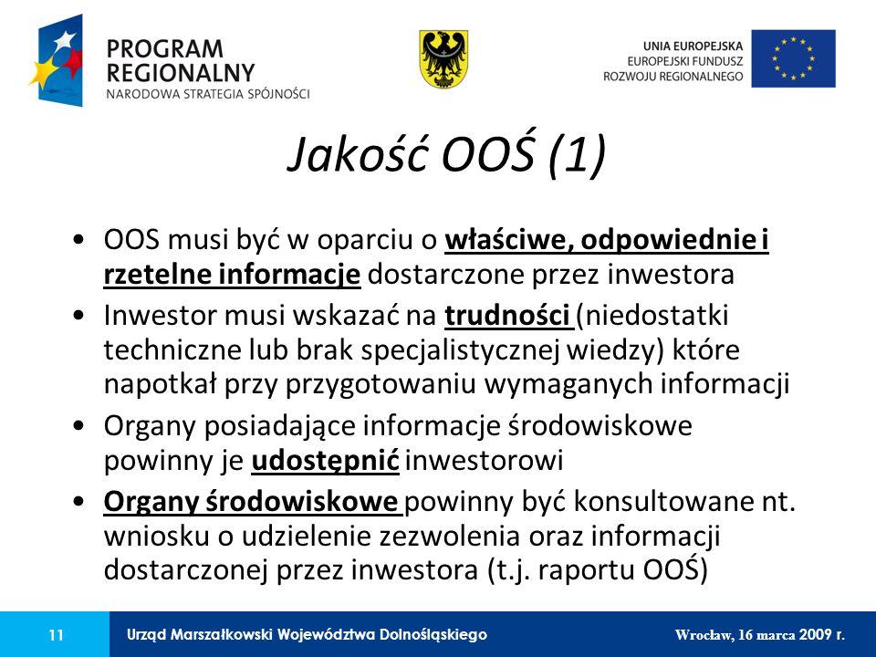 11 Urząd Marszałkowski Województwa Dolnośląskiego Wrocław, 16 marca 2009 r. 11 Urząd Marszałkowski Województwa Dolnośląskiego Wrocław, 16 marca 2009 r