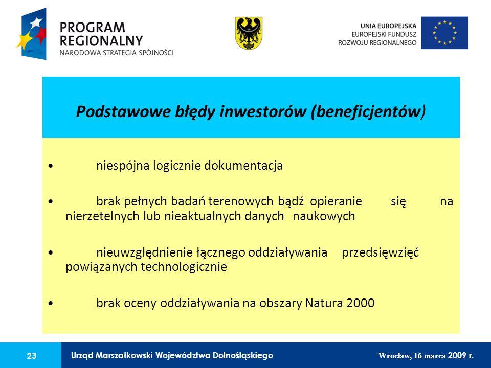 23 Urząd Marszałkowski Województwa Dolnośląskiego Wrocław, 16 marca 2009 r. 23 Urząd Marszałkowski Województwa Dolnośląskiego Wrocław, 16 marca 2009 r