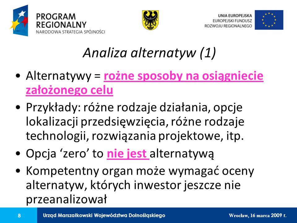 8 Urząd Marszałkowski Województwa Dolnośląskiego Wrocław, 16 marca 2009 r.