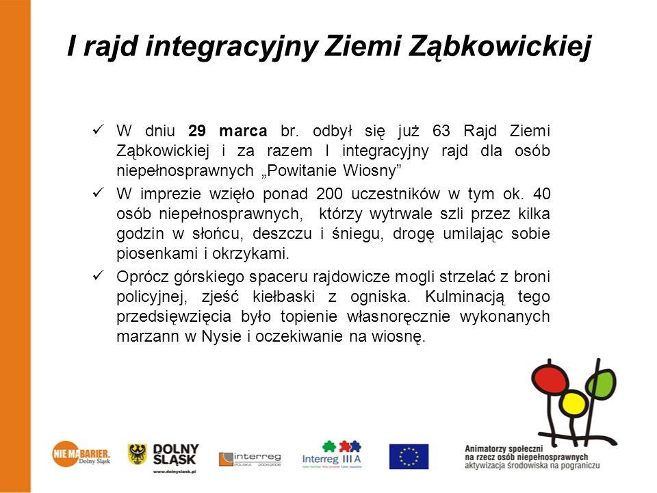 I rajd integracyjny Ziemi Ząbkowickiej W dniu 29 marca br. odbył się już 63 Rajd Ziemi Ząbkowickiej i za razem I integracyjny rajd dla osób niepełnosp
