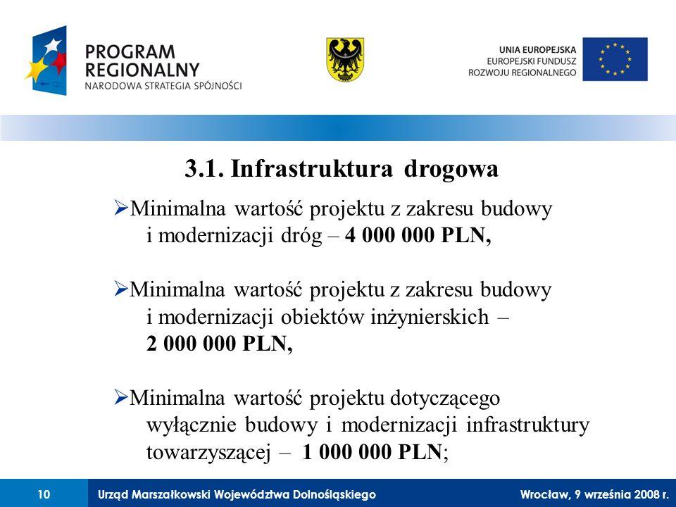 Urząd Marszałkowski Województwa Dolnośląskiego27 lutego 2008 r.10 3.1.