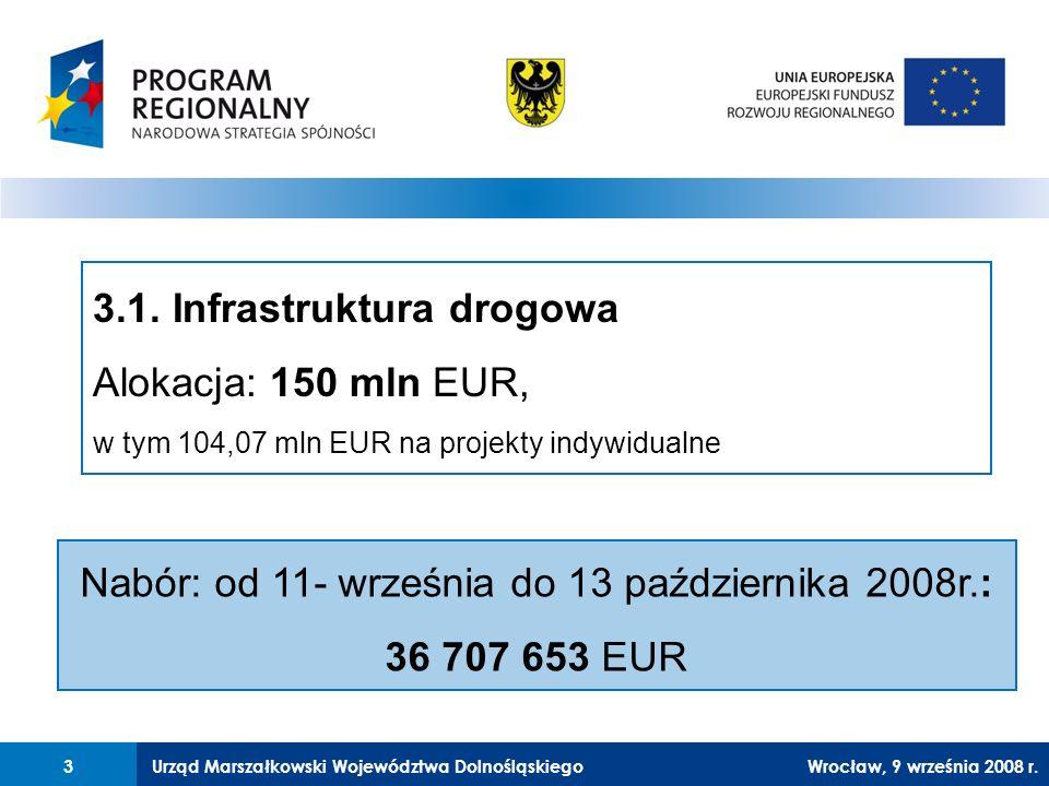 Urząd Marszałkowski Województwa Dolnośląskiego27 lutego 2008 r.3 3Wrocław, 9 września 2008 r.
