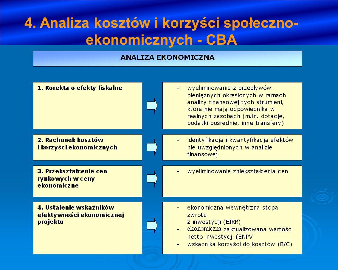 4. Analiza kosztów i korzyści społeczno- ekonomicznych - CBA