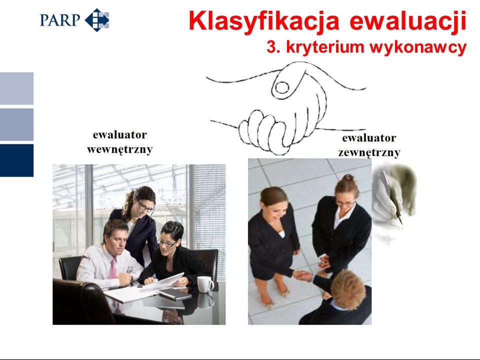 Klasyfikacja ewaluacji 2. Cel przeprowadzania ewaluacji CELE EWALUACJI: poznawczy – zdobycie wiedzy na temat zasad funkcjonowania programów instrument