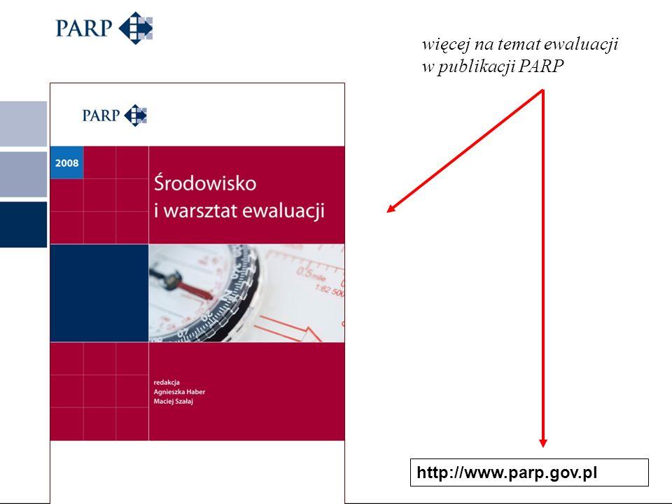 http://www.parp.gov.pl/index/more/2046 więcej na temat ewaluacji w publikacji PARP