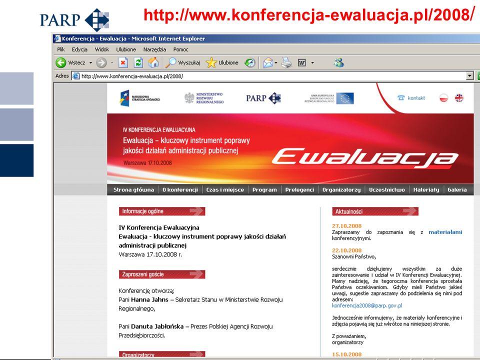 http://www.parp.gov.pl/index/index/110 Raporty z ewaluacji