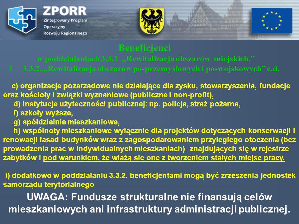 c) organizacje pozarządowe nie działające dla zysku, stowarzyszenia, fundacje oraz kościoły i związki wyznaniowe (publiczne i non-profit), d) instytuc