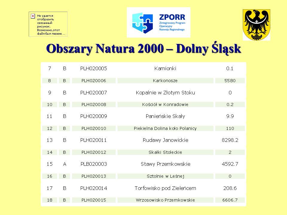 Obszary Natura 2000 – Dolny Śląsk