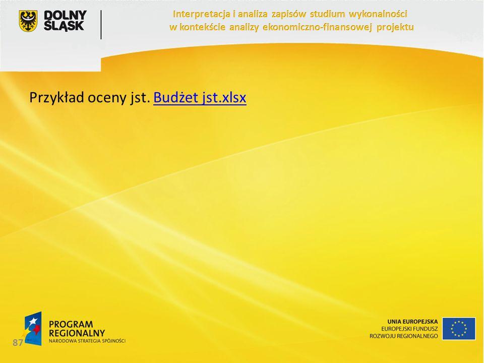 Przykład oceny jst. Budżet jst.xlsxBudżet jst.xlsx 87