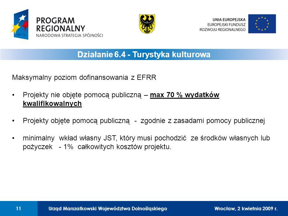 Urząd Marszałkowski Województwa DolnośląskiegoWrocław, 12 czerwca 2008 r.11 01 Urząd Marszałkowski Województwa Dolnośląskiego11Wrocław, 2 kwietnia 2009 r.